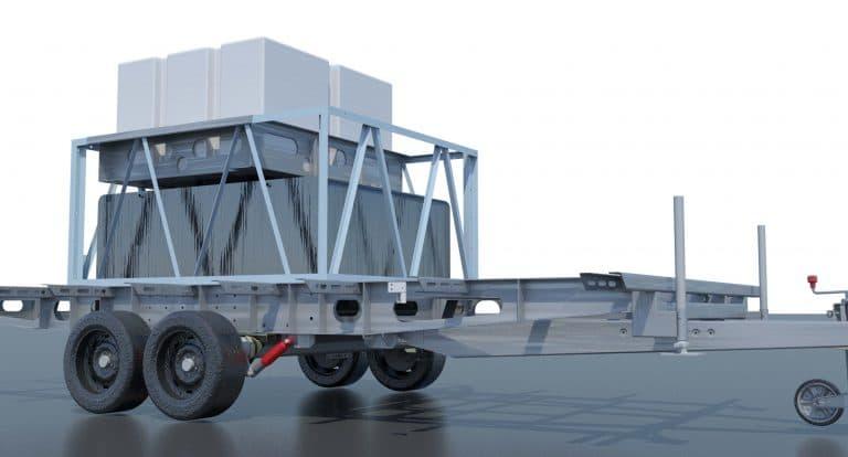 AMO-Toilettenwagen-Rahmenkonstruktion